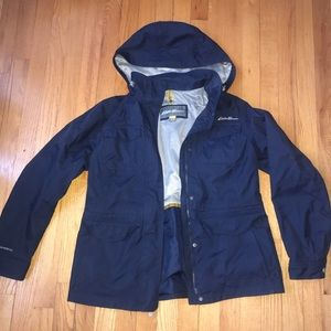 Eddie Bauer Navy Weatheredge Windbreaker Jacket